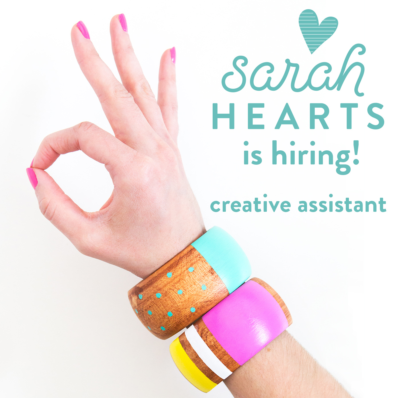 Blogger Sarah Hearts is hiring a creative assistant! If you living in Orlando and have photography and cooking experience click through for details!