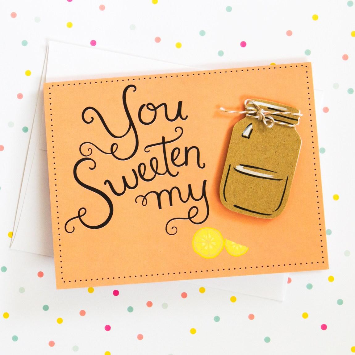 You Sweeten My Tea! Cute card by Handmade Darling