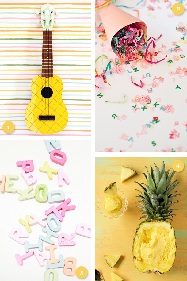 Add some color, fun and flavor to your summer with one of these adorable DIY projects! (click through for links to each one)