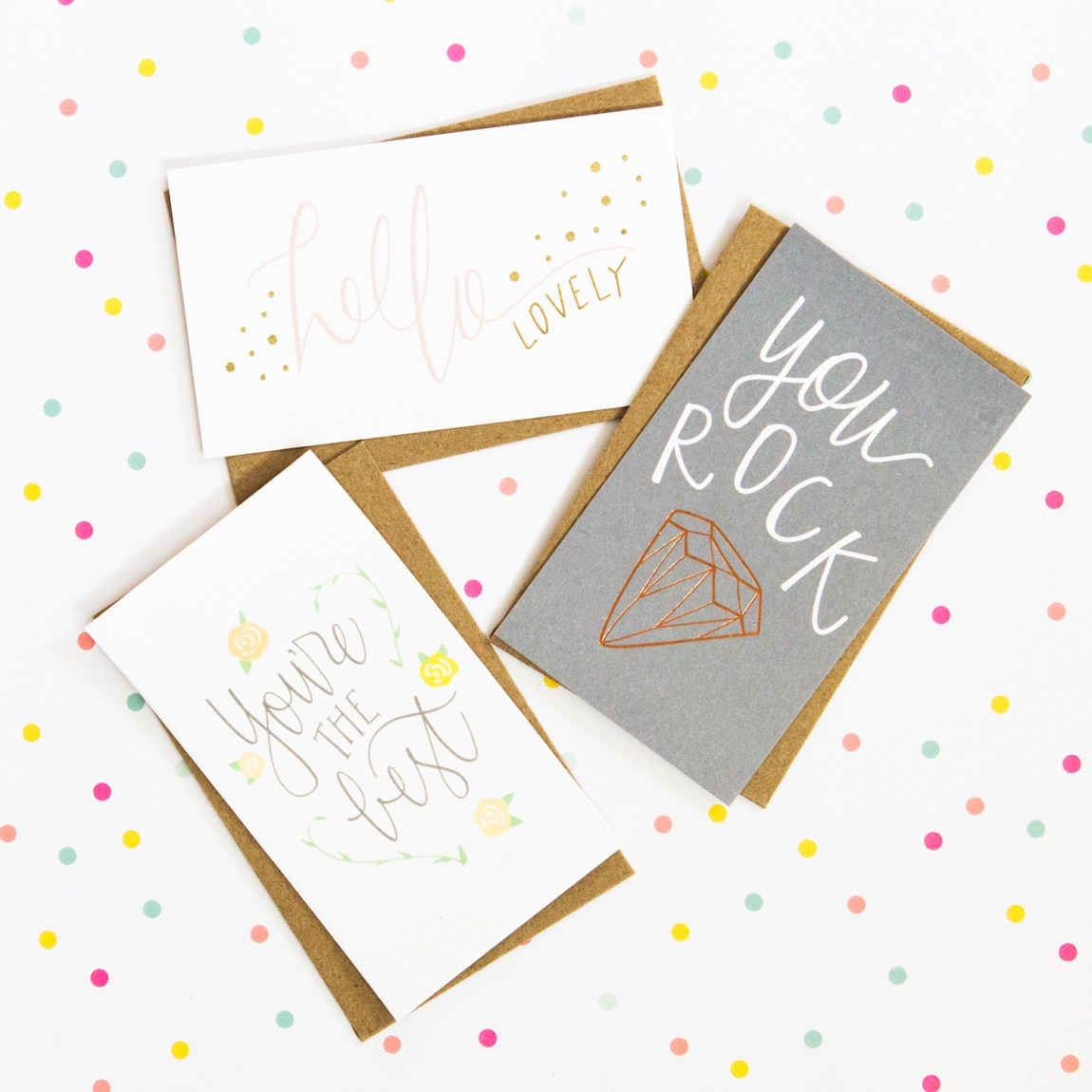 Mini notecards by Paper Sushi