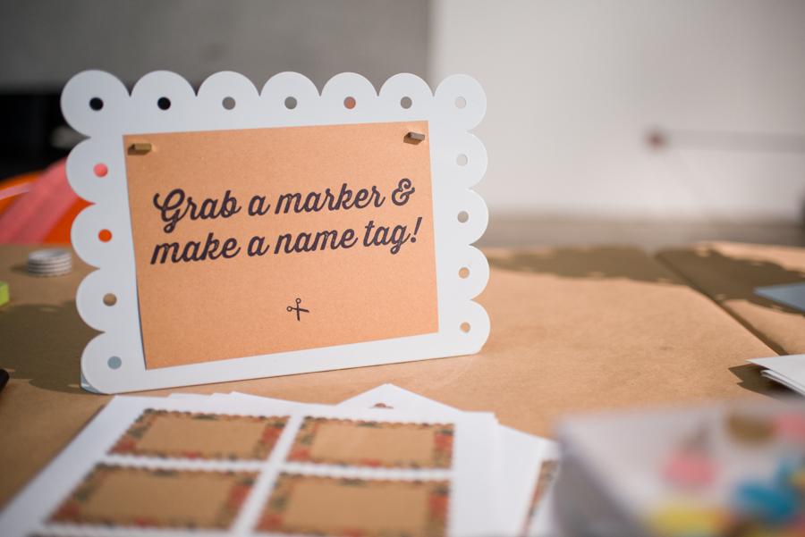 Grab a marker and make a name tag! #meetandmake