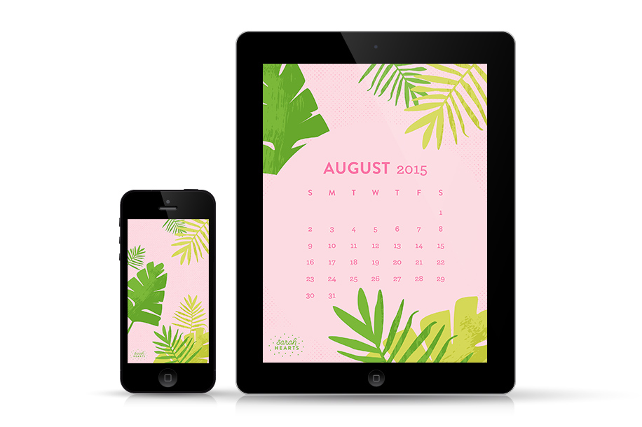 Add a touch of the tropics to your phone and tablet with this pretty free wallpaper.