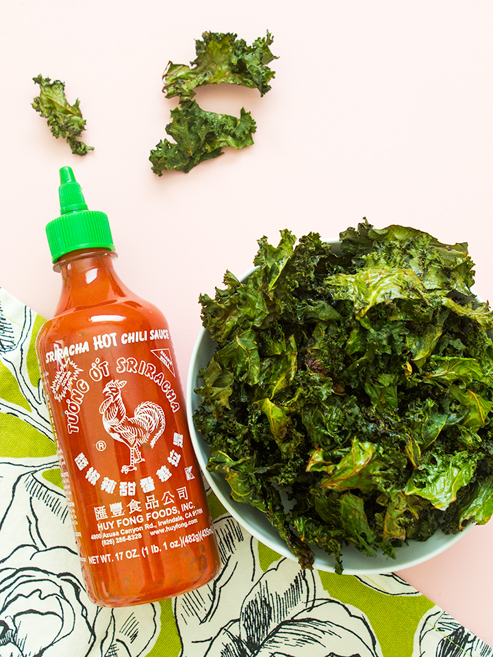 If you love the taste of sriracha then you have to try making these delicious savory kale chips. It's such an easy way to snack healthfully!
