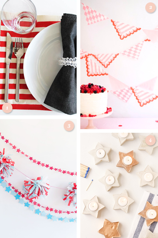Make the 4th extra festive with one of these simple patriotic DIY projects! Click through for links to each tutorial.