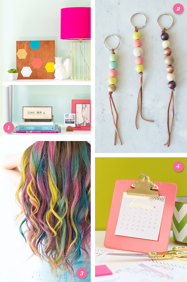 Add some color to your life with one of these fun, simple, and colorful DIY projects! Click through for links to each one.