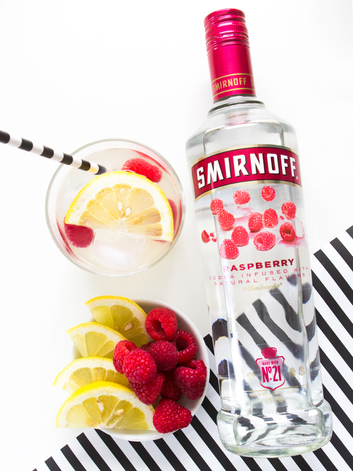 Smirnoff Raspberry makes the perfect lemonade punch! Serve in a pitcher and garnish with fresh berries and lemon slices.