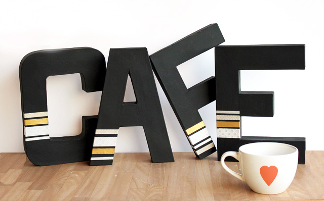 Paper Mache Cafe Sign