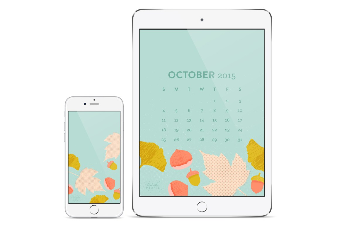 Get your phone and tablet ready for autumn with this free fall inspired wallpaper by Sarah Hearts! (Click through to download for all devices)