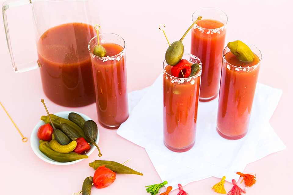Serve the best Bloody Marys at your next brunch with this delicious spicy recipe!
