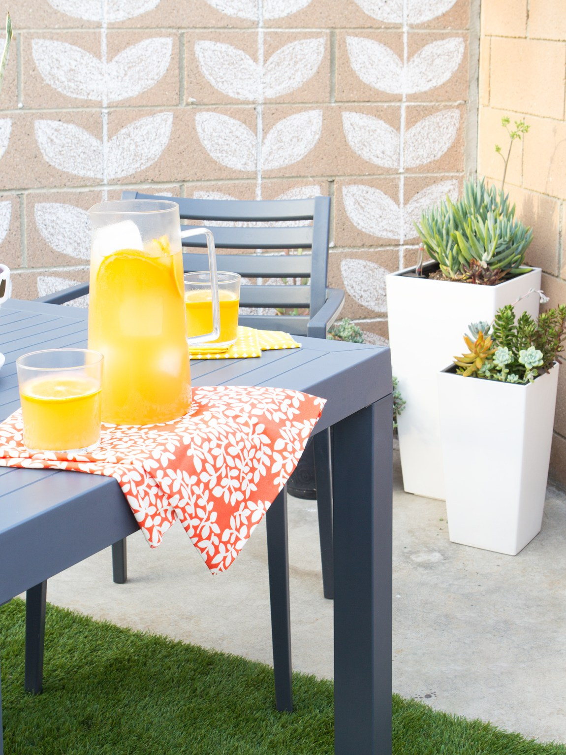 Add color and pattern to your small patio to transform it into the perfect entertaining area!