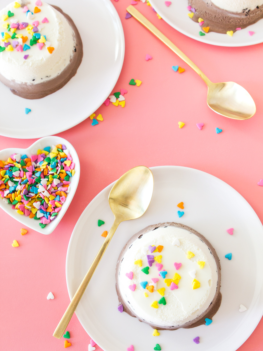 Make everyone's favorite classic ice cream cake at home! Click through to see the video recipe for making these individual ice cream cakes.