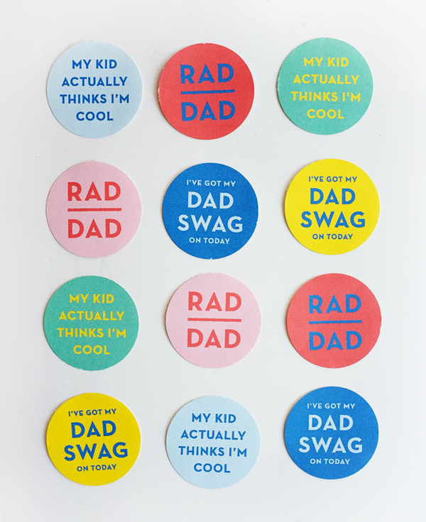 Printable Father's Day stickers