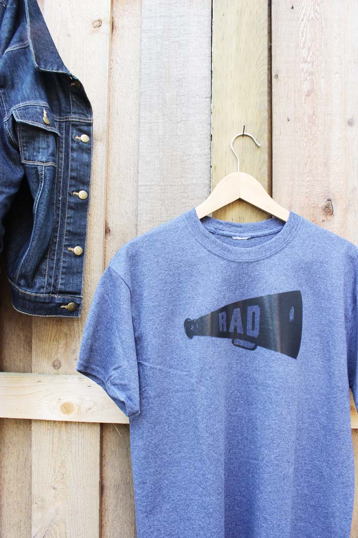 Rad dad printable iron on t-shirt transfer for Father's Day