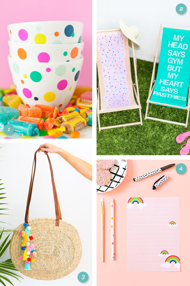 Here are 4 simple, colorful projects to try this weekend including super cute printable stationery!