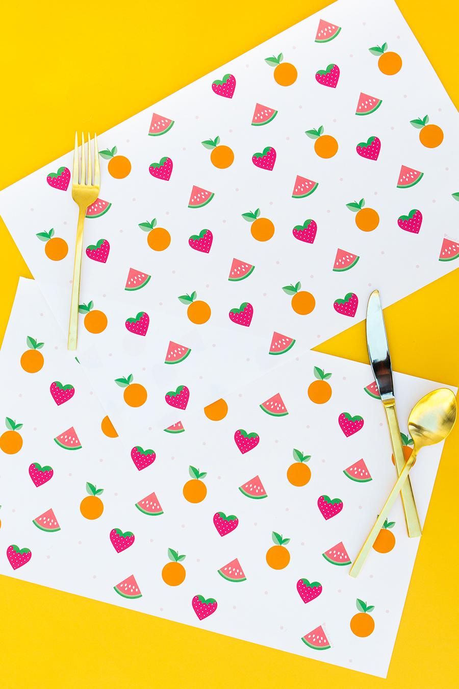 Printable Summer Fruit Placemats Sarah Hearts