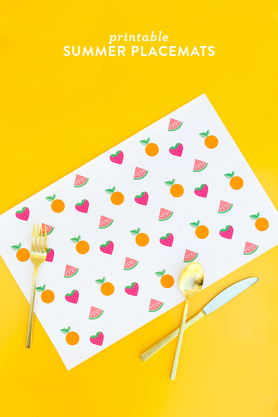 Printable Summer Fruit Placemats - Sarah Hearts