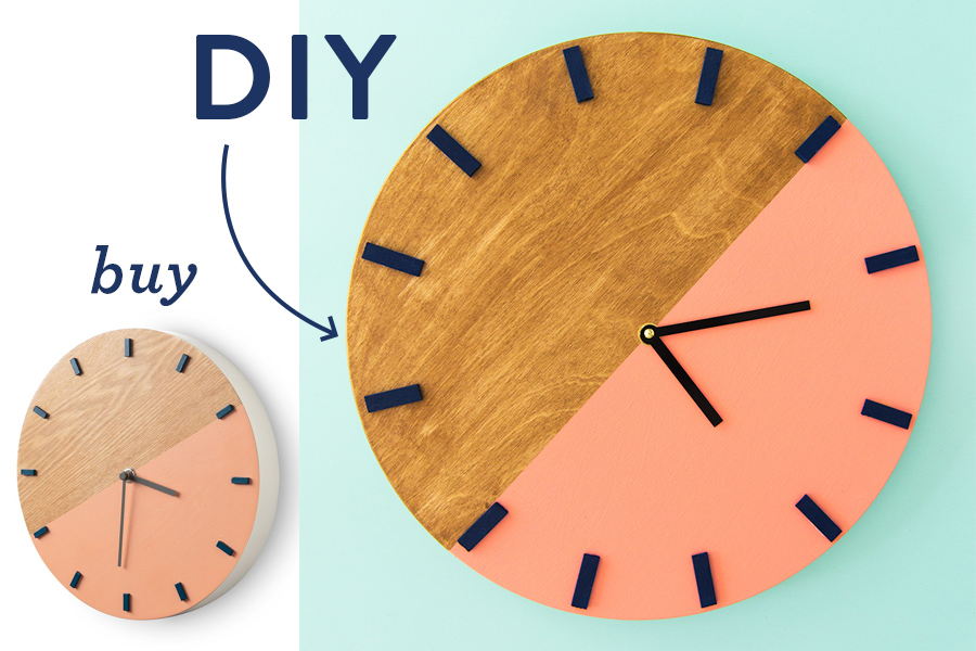 Whether you like to buy or DIY here's a gorgeous wall clock you can shop or make for your home!