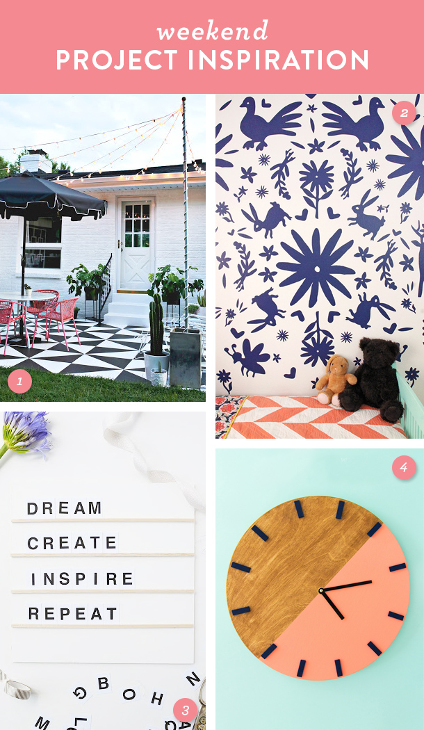 Try one of these fun DIY home projects this weekend!