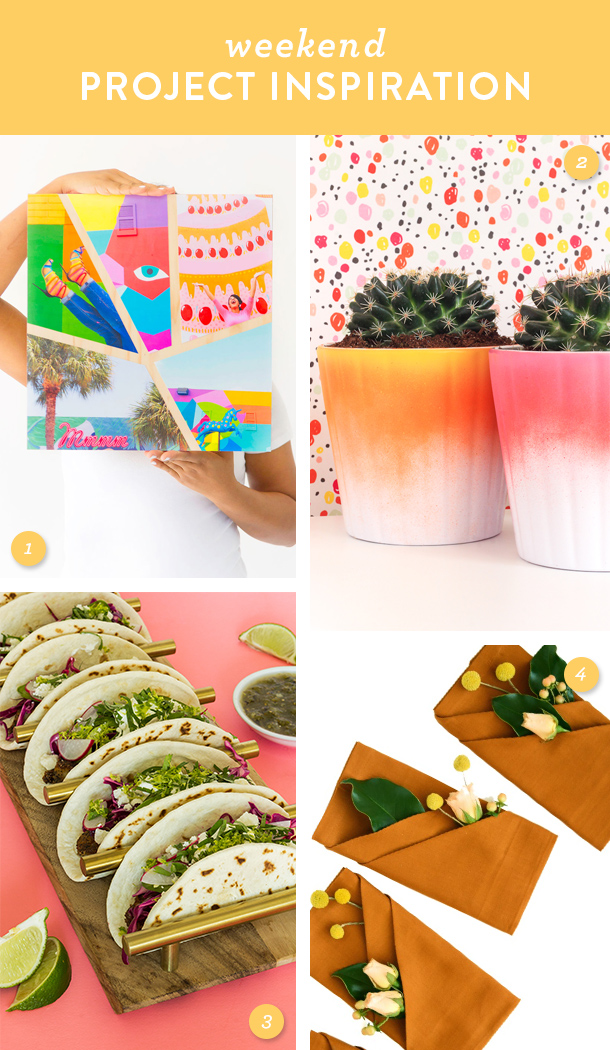 Add some color to your home or dinner table this weekend with one of these fun and easy DIY projects!