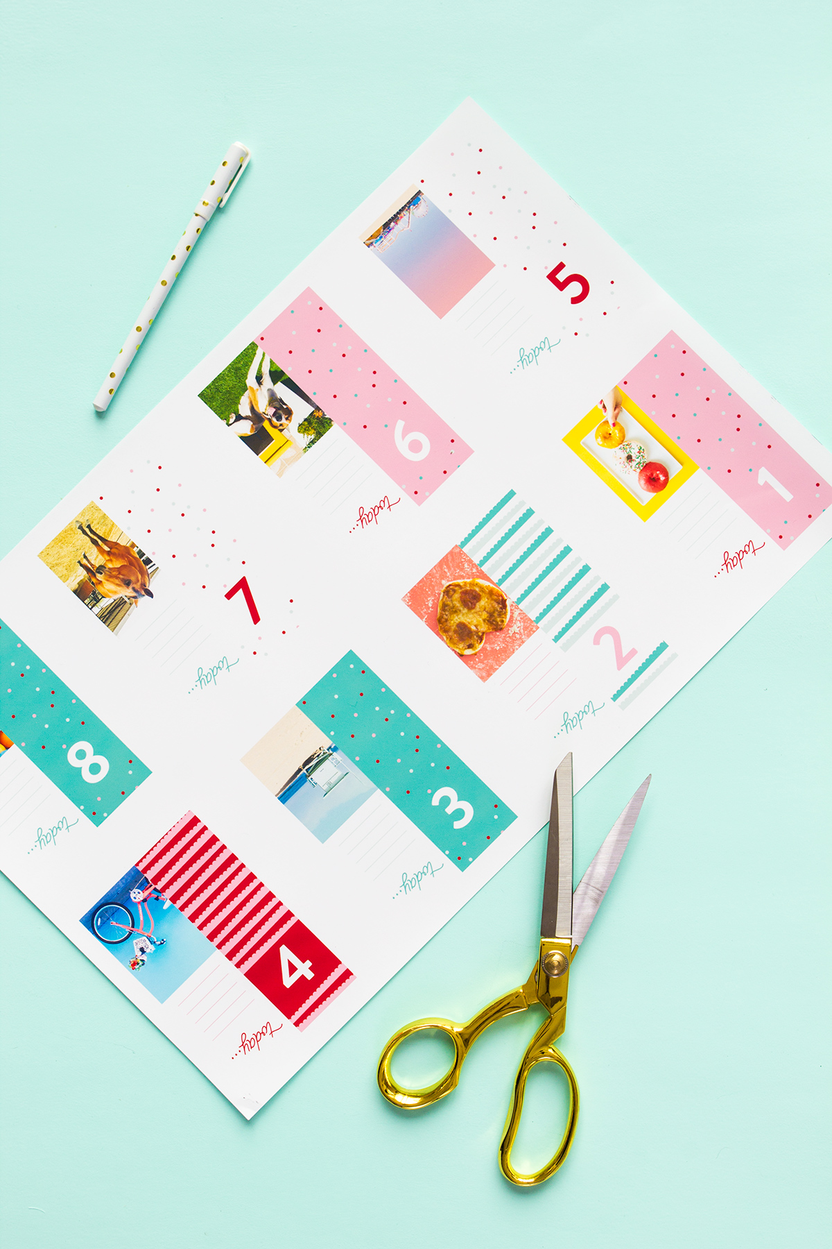 Add your own photos to make a one-of-a-kind advent calendar this Christmas season!