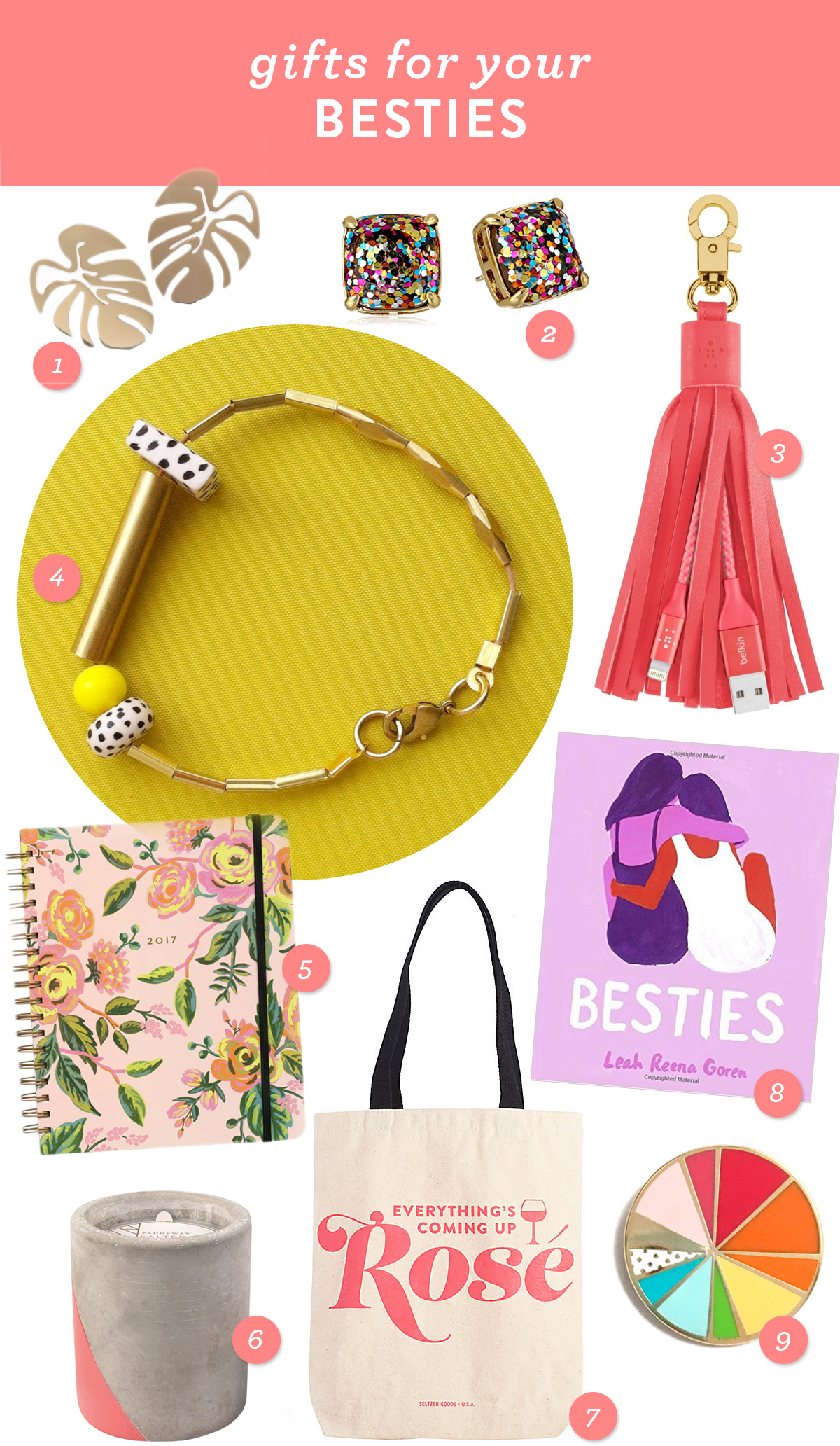 Give your BFF something special this holiday season! Here are 9 great gift ideas that fit all budgets.