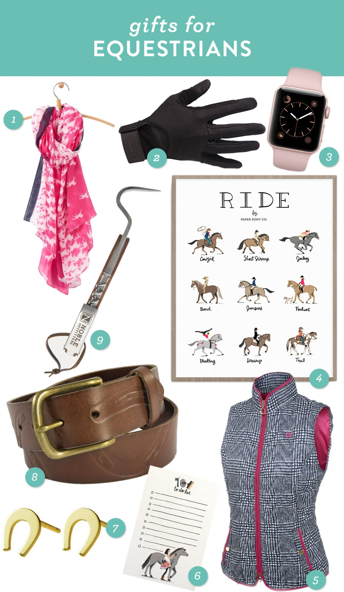Gift ideas for the equestrians and horse lovers in your life!