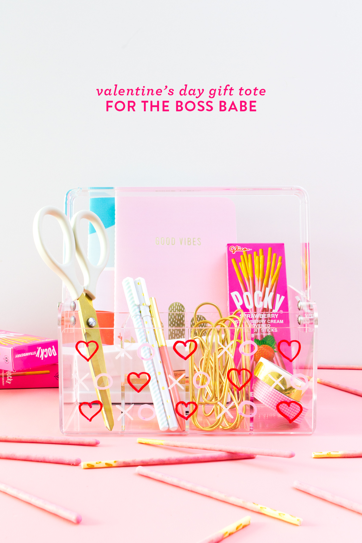 Create this one-of-a-kind Valentines Day gift tote for your BFF that is a total girl boss!