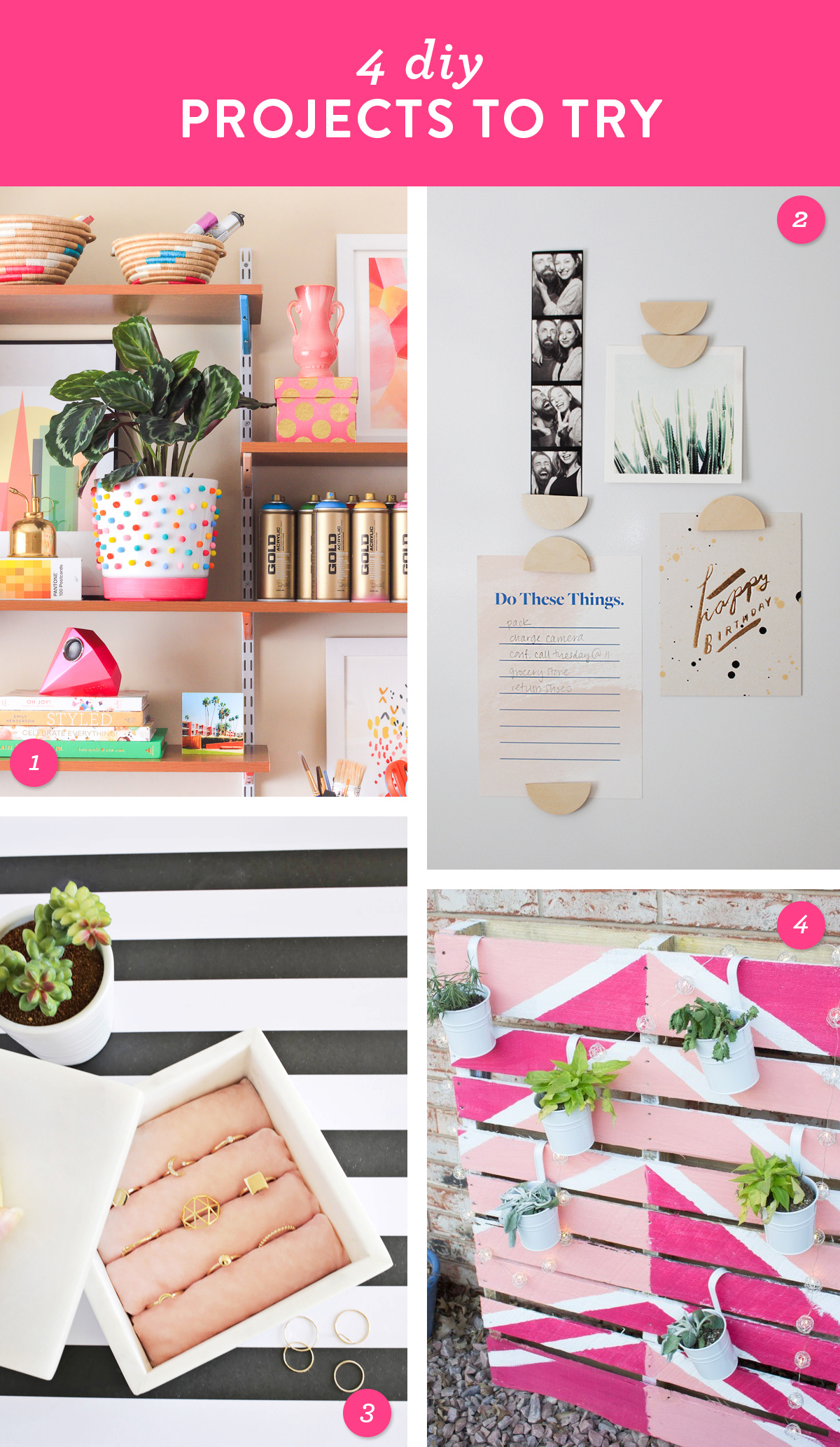 Add color and style to your home and try one of these easy DIY projects this weekend.