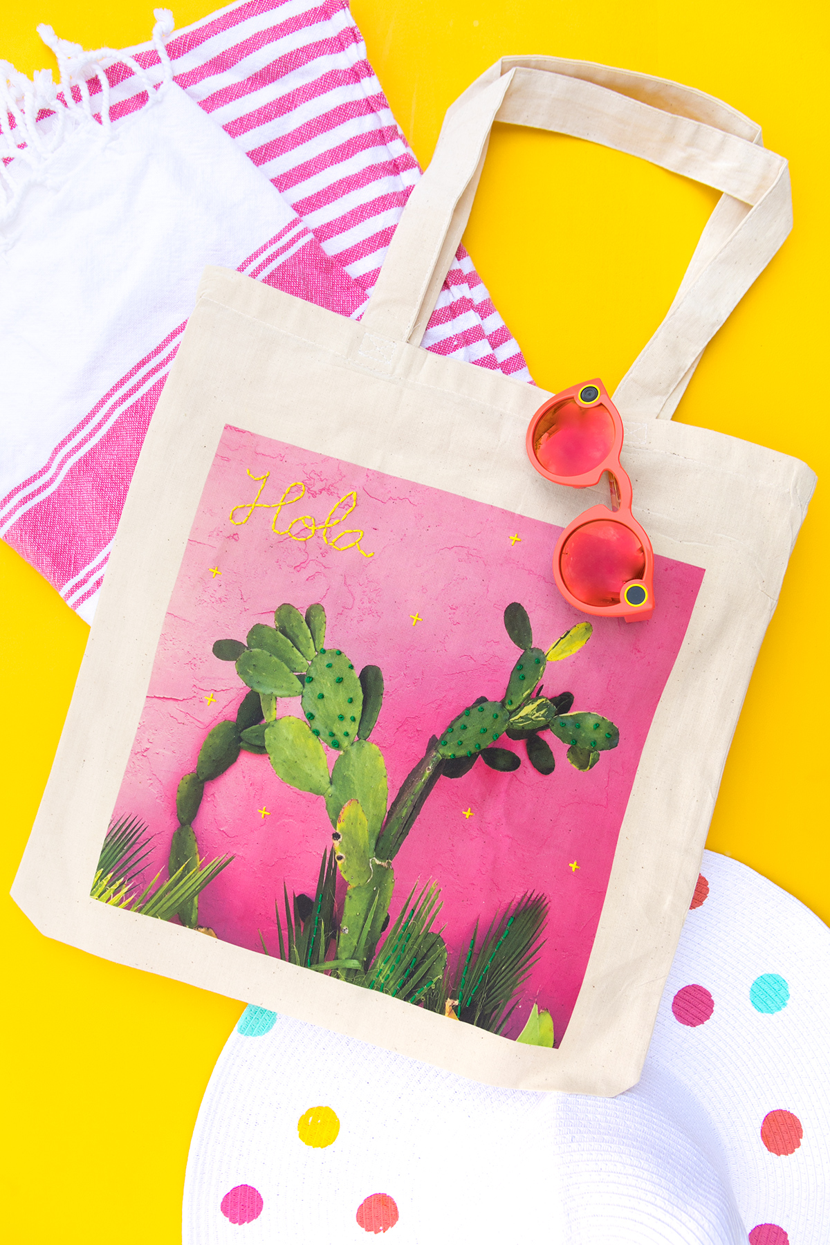 Learn how you can easily create your own custom photo tote bag with embroidery.