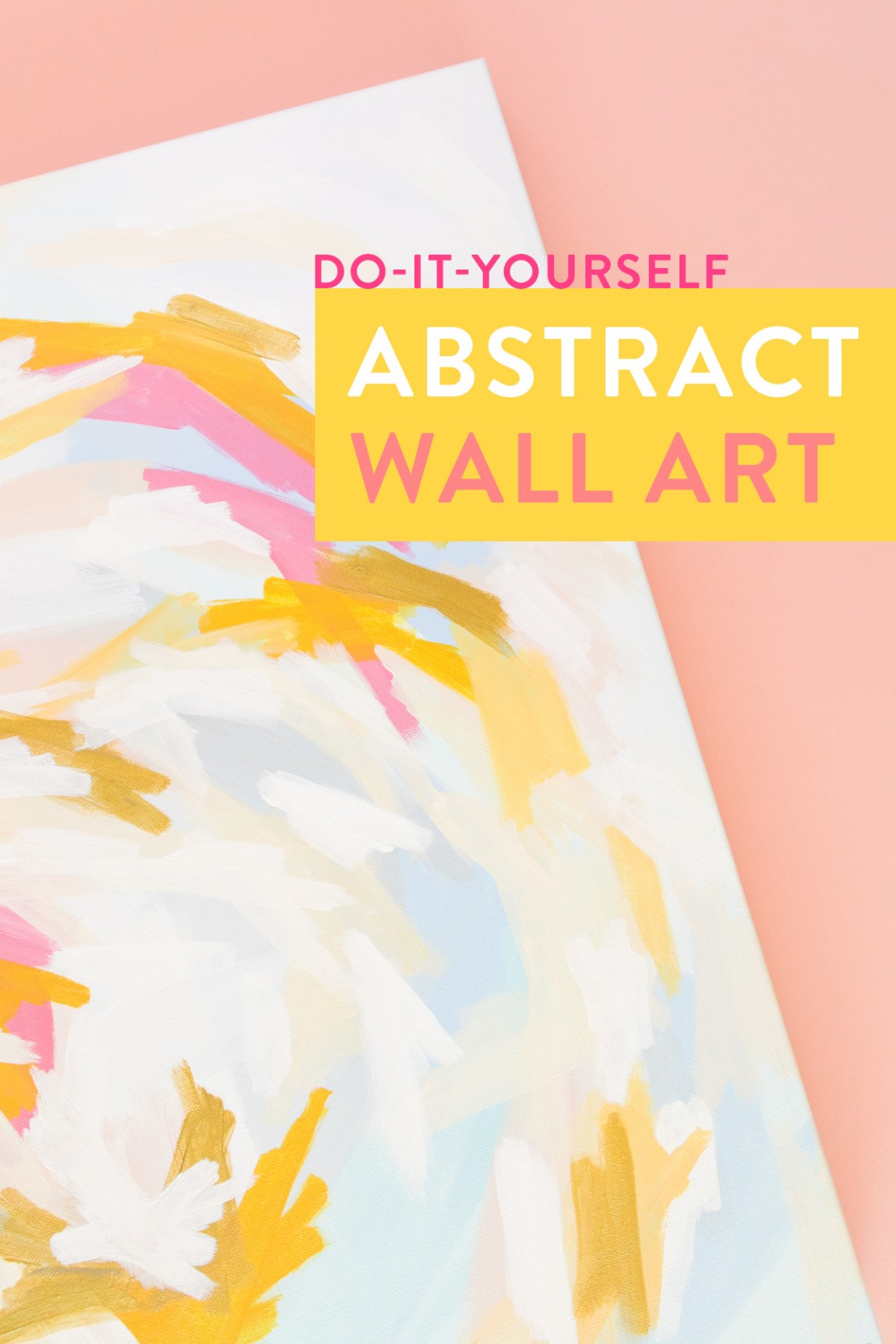 Watch how blogger Sarah Hearts creates her own abstract wall art using DecoArt's Americana Premium acrylic paint.
