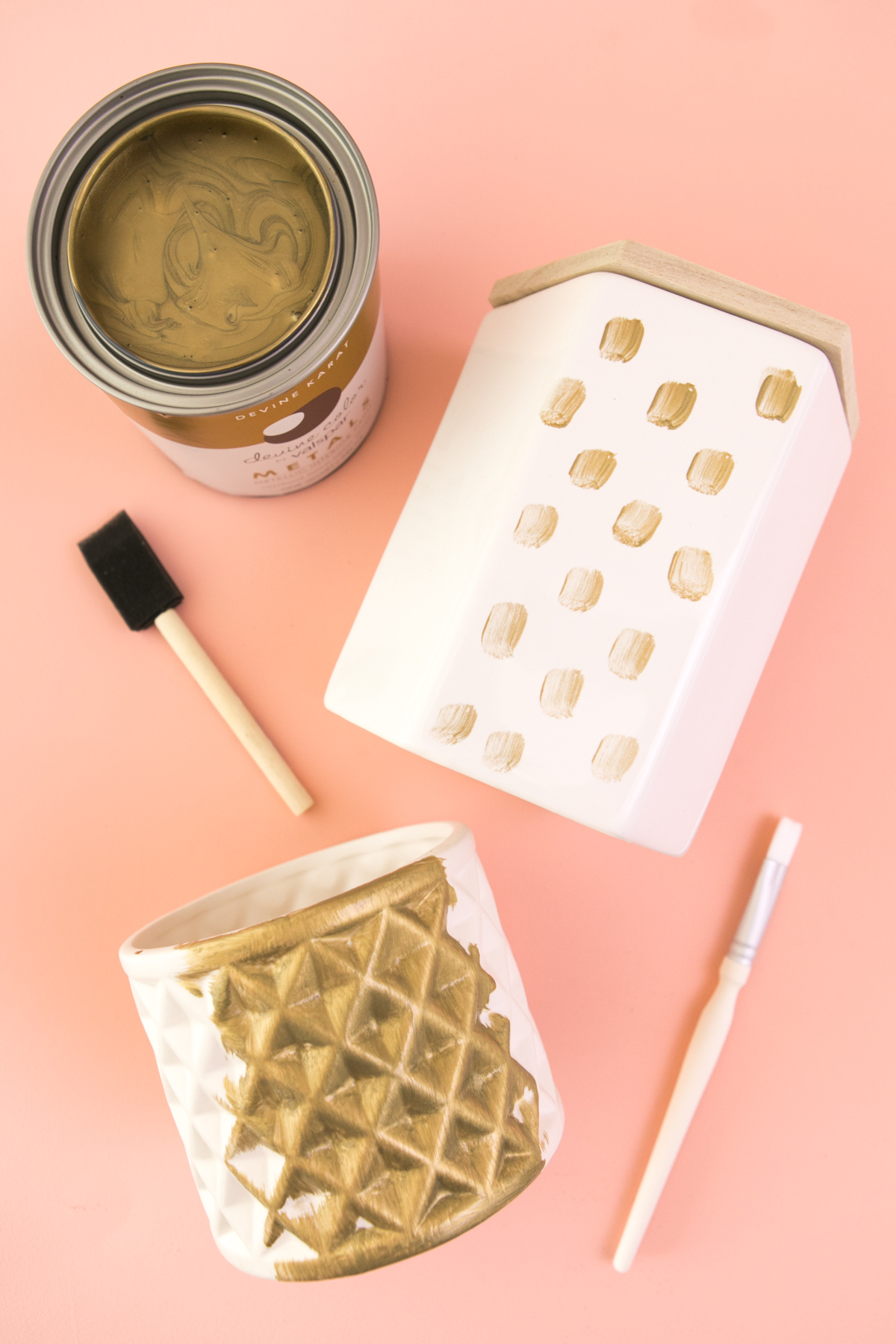 Update affordable home decor accessories from Target using Devine Color metallic paint