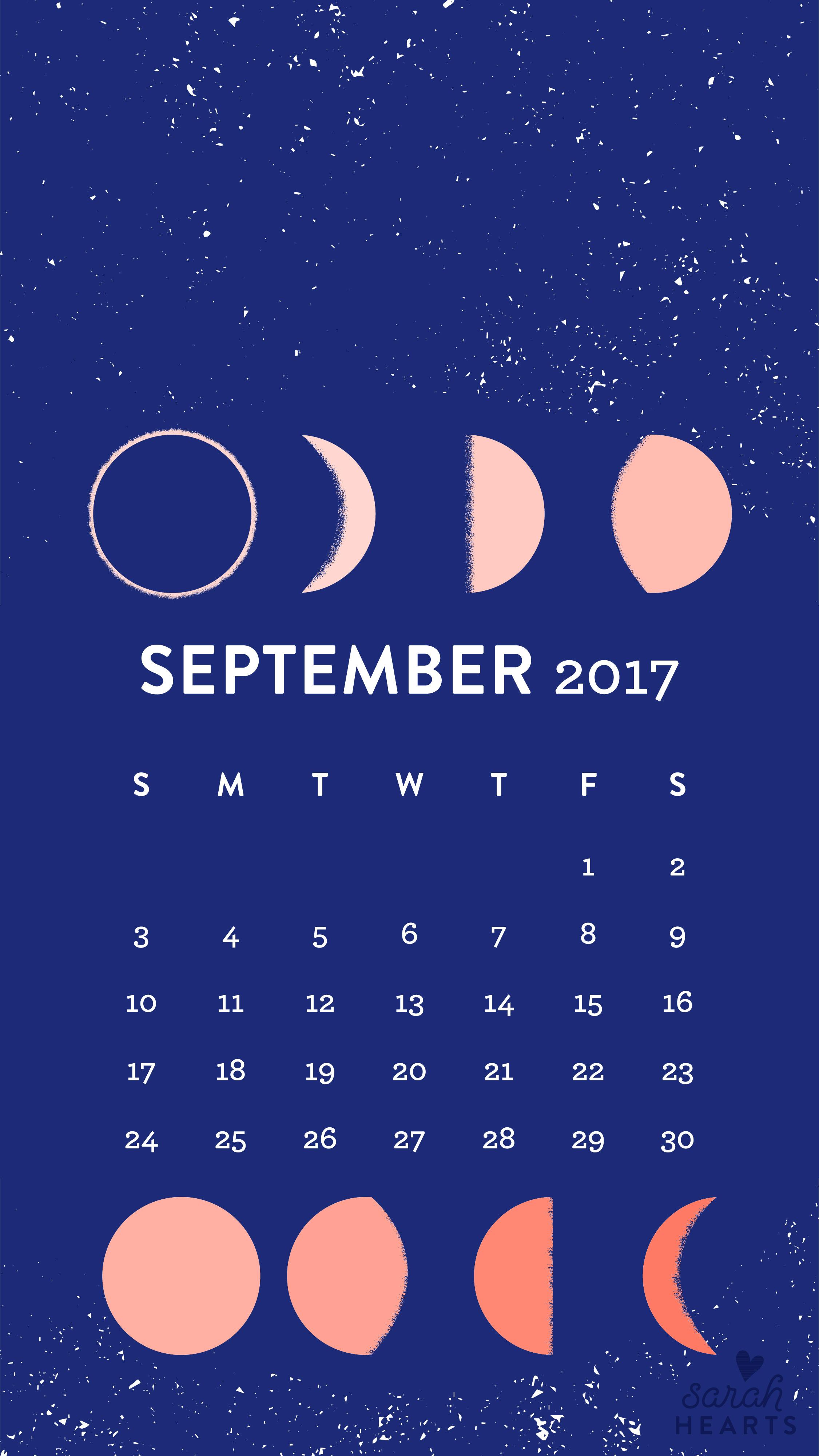 September 2017 Calendar Wallpaper Sarah Hearts
