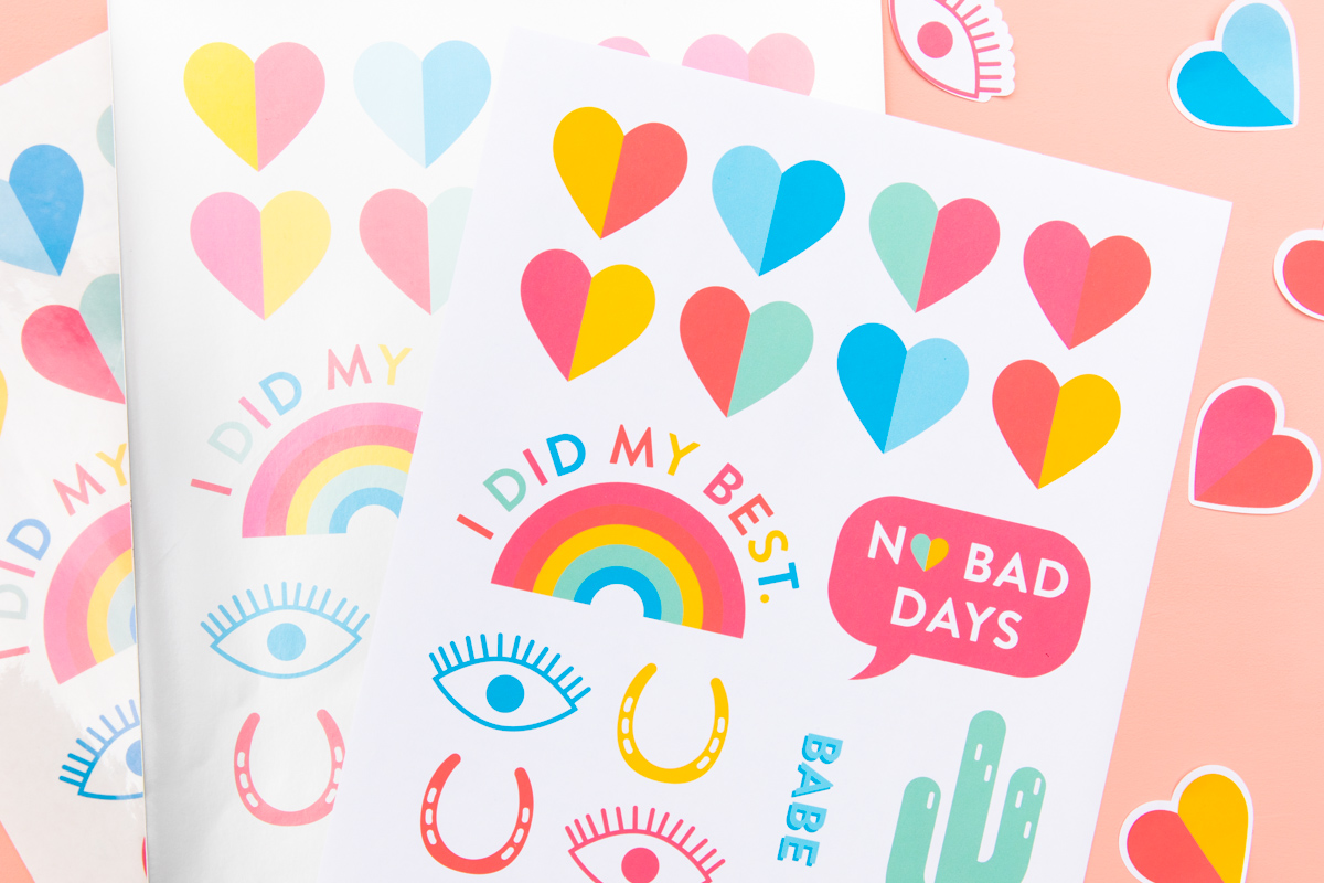 picture relating to Vsco Stickers Printable known as Do-it-yourself Printable Rainbow Sticker Sheets - Sarah Hearts