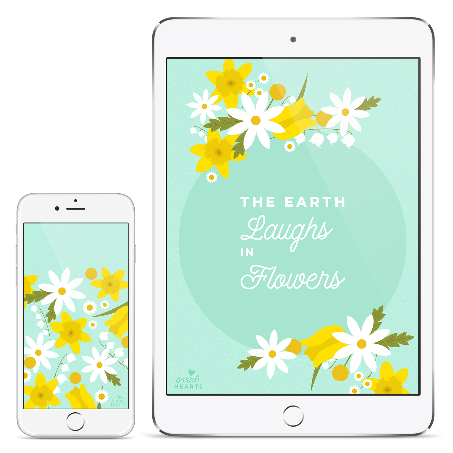 Free spring floral iPhone and iPad wallpaper