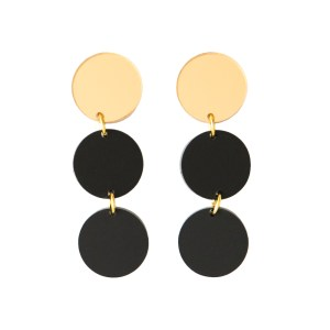 photo of matte black and gold bauble earrings