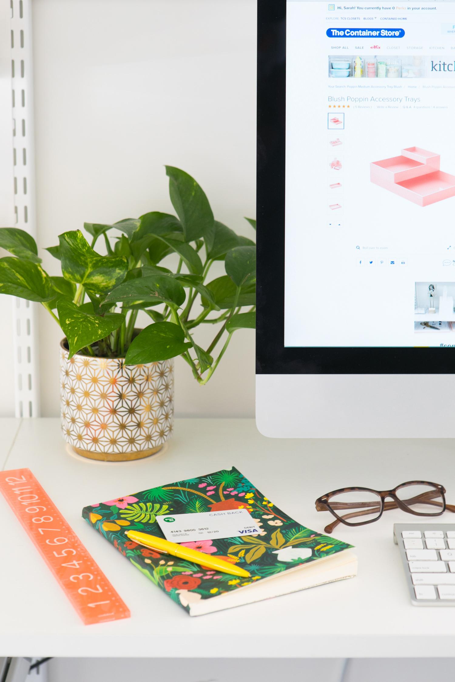 Photo of Sarah's desk
