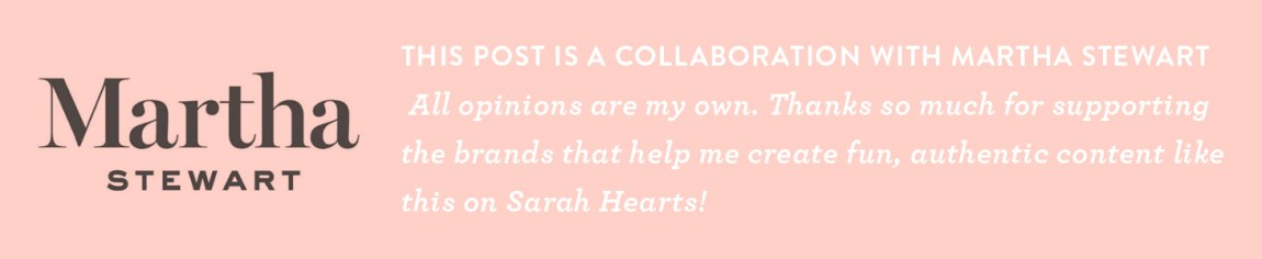 I have partnered with the Martha Stewart team and Plaid Crafts for this post. All expressed opinions and experiences are my own.