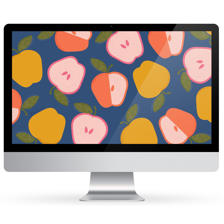 Colorful Apple September 2019 Calendar Wallpaper - Sarah Hearts