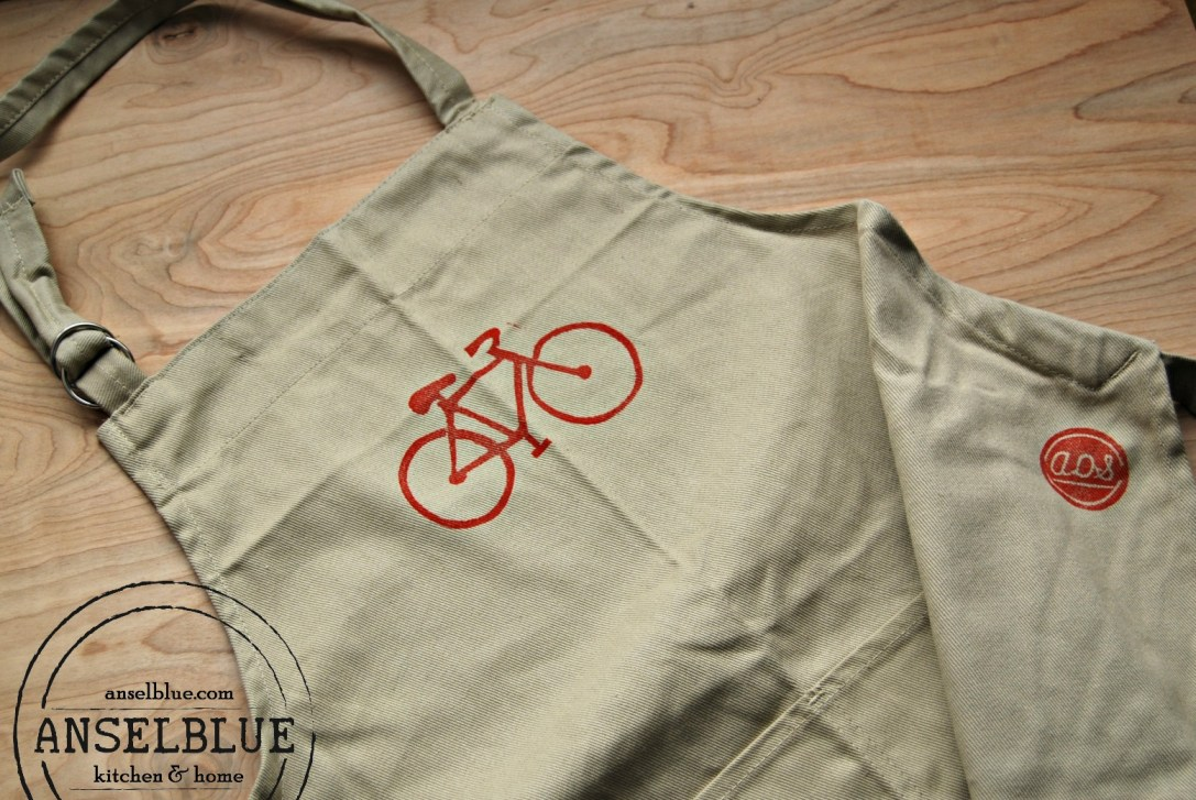 Anselblue Red Bike Apron