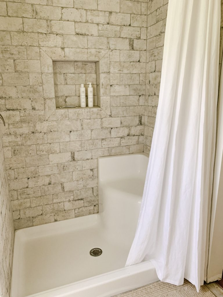 why we opted for a shower curtain