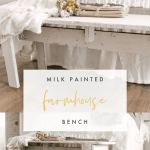 Milk Painted Farmhouse Bench Sarah Jane Interiors
