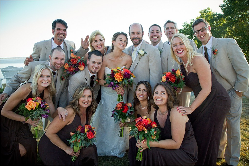 Maine Wedding Bridal Party | French's Point Wedding