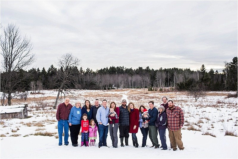 Maine Family Portrait Photographer Snow covered field
