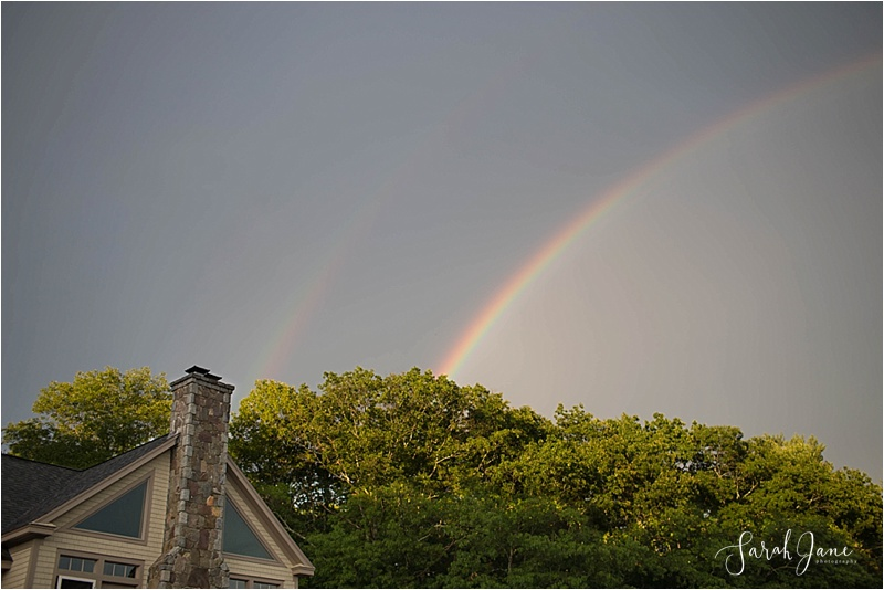 Double Rainbow at Emmons Preserve Kennebunkport Conservation Trust Wedding