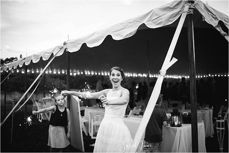 Wedding Sparklers Maine Wedding Photographer | Sarah Jane Photography