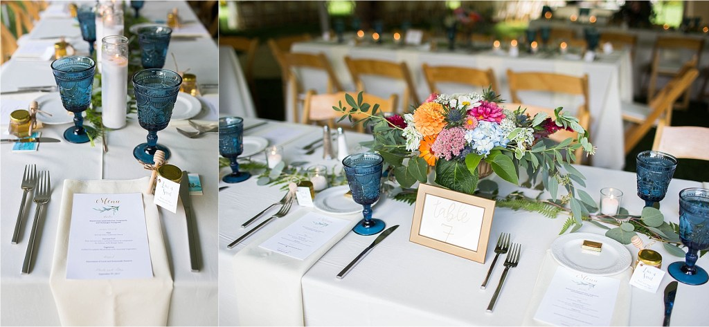 Table Decor Maine Wedding Gisland Farm Falmouth