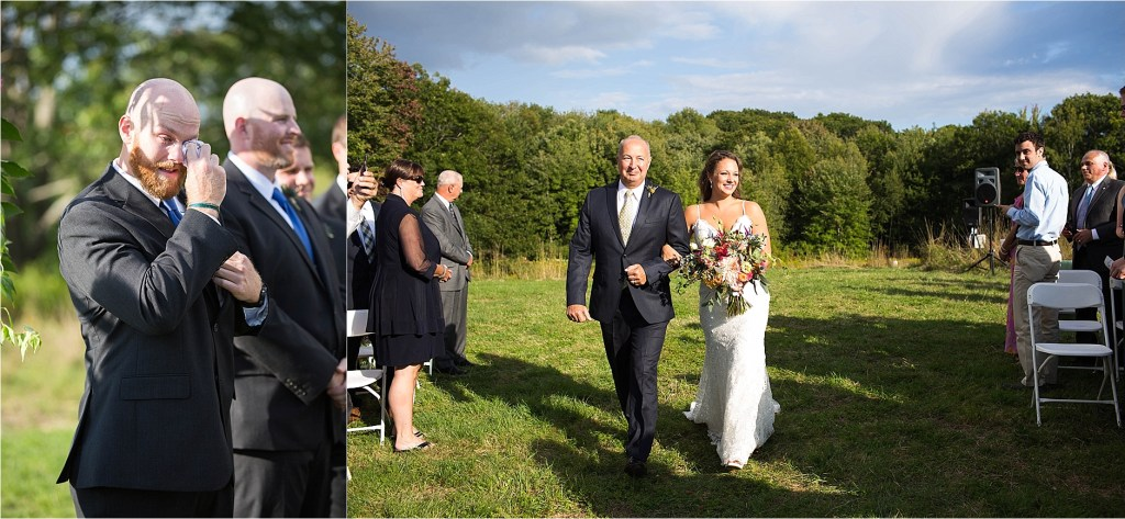 Wedding Processional at Gisland Farm Falmouth Maine