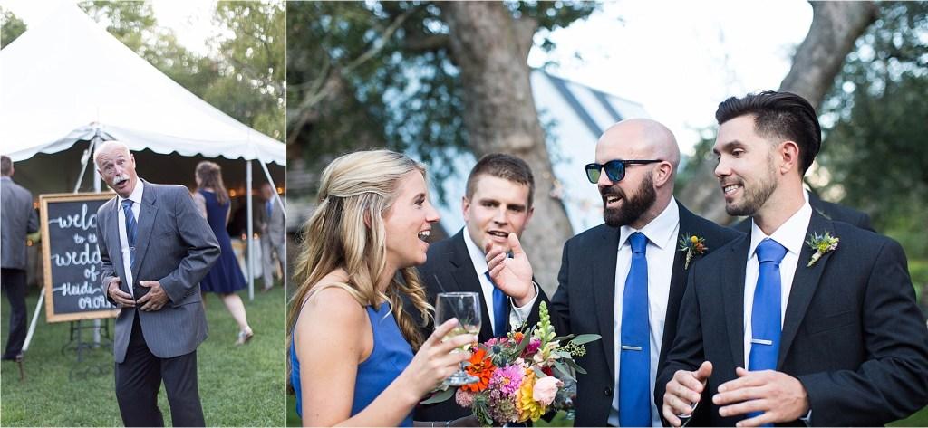 Maine Audubon Center Tented Wedding Reception
