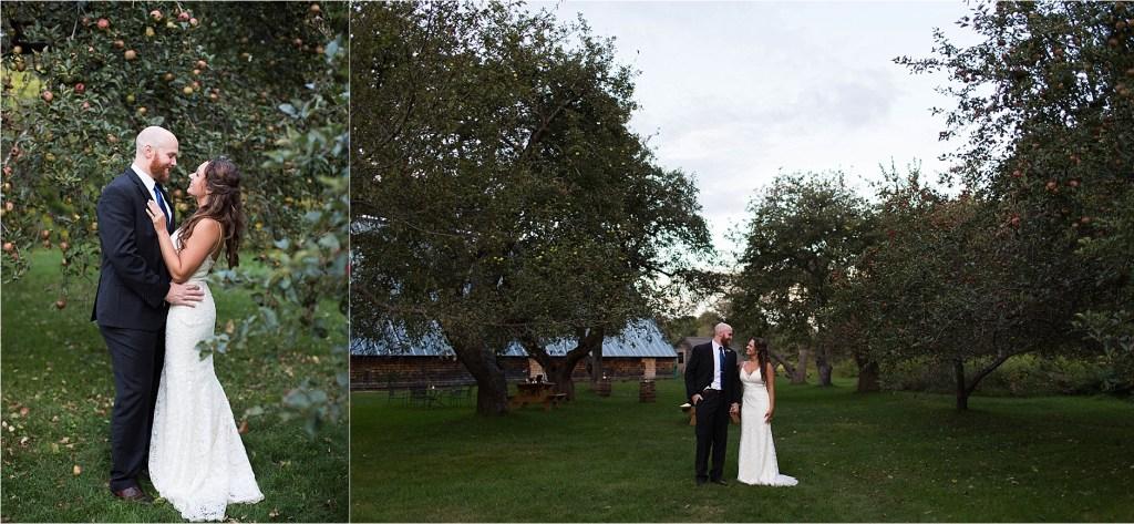 Apple Orchard at Maine Audubon Center at Gisland Farm Falmouth Maine