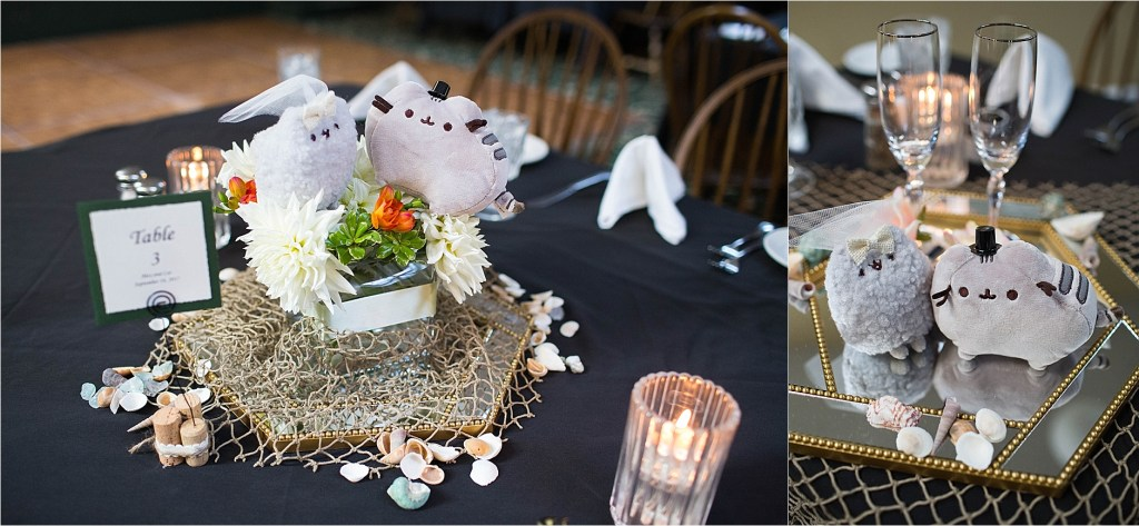 Pusheen Centerpiece Maine Wedding Photography Ogunquit